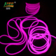 Custom made pure white neon emitting light led ultra thin flex rope programmable rgb strip with CE certificate