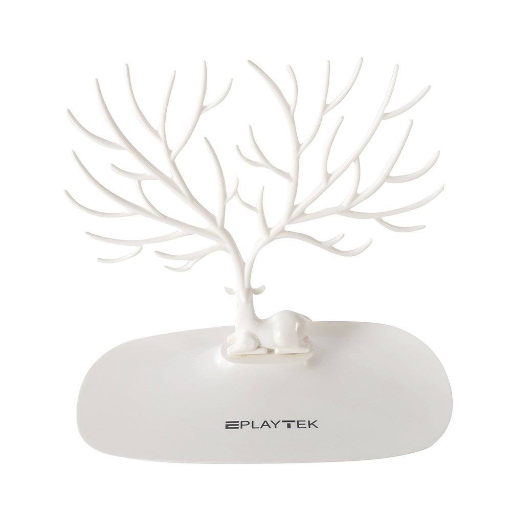 Jewelry Stand Display Tower, EplayTek Bracelet Holder Jewelry Rack Necklace Rack for Home Use ABS Material Deer Tree(White)