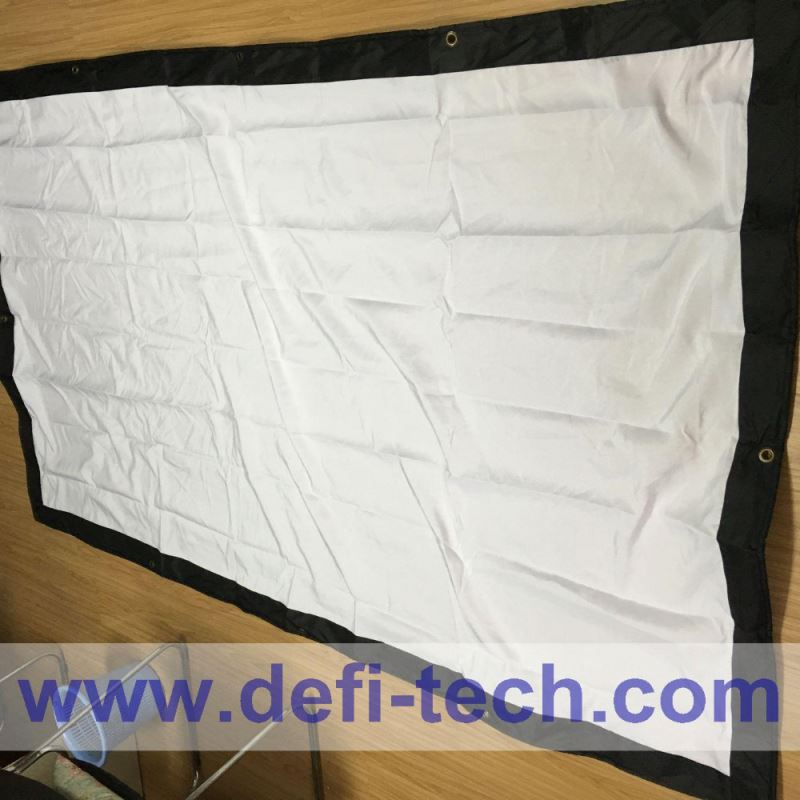Hot sale! HD fast fold fabric front 400 inch projection screen