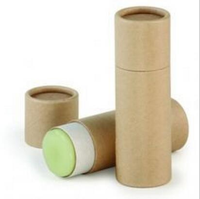 Eco-friendly di carta kraft cartone push up tubo di carta per il balsamo per le labbra