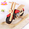 2017 New design cool motorcycle shape wooden baby rocker toy W16D110