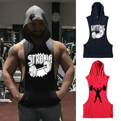 hot wholesale tank top shirts cotton/spandex/cotton tank top men gym with private label
