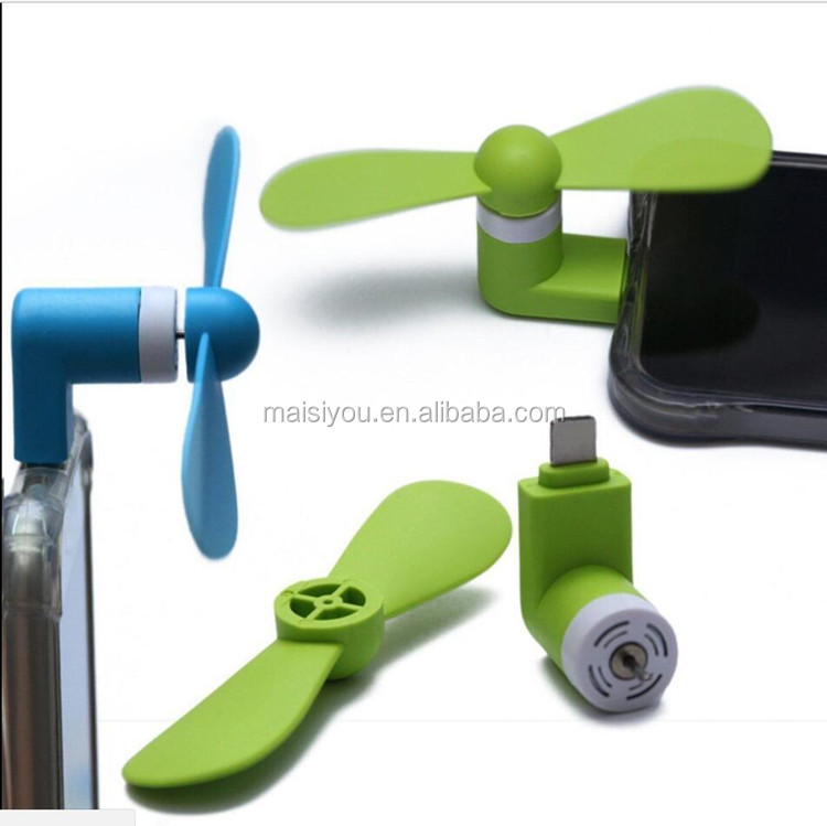 2017 new mobile phone accessories MINI USB cell phone fan,mobile phone cooling fan, smart phone fan