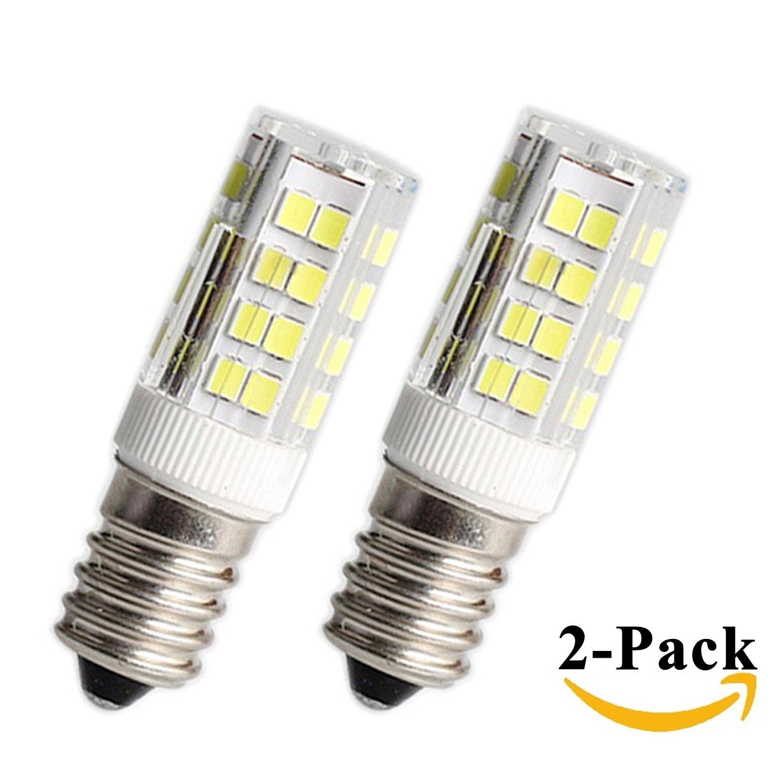 E14 LED Light Bulb,Dimmable E14 Base Bulb,400LM 40W Equivalent,C35 40W Incandescent Bulb Equivalent Warm White 3000K AC 110V//120V//130V 2 Pack