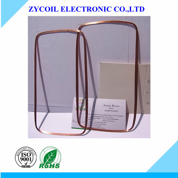Rfid race tag coil