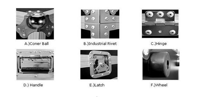 RK alta calidad amp Rack casos caso de carretera de vuelo para altavoz de monitor de luz