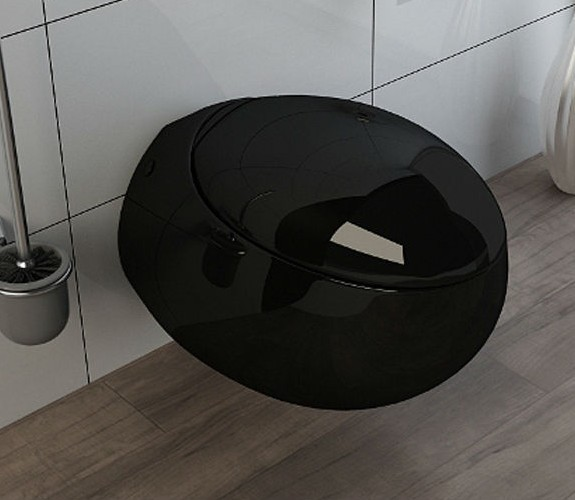 kb 138 zwarte wc wandmontage als een ei toiletten product id 2004538755. Black Bedroom Furniture Sets. Home Design Ideas