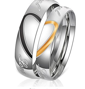 2019 New Arrival Engraved Love Couple Rings Stainless Steel Engagement Wedding Rings for Couple