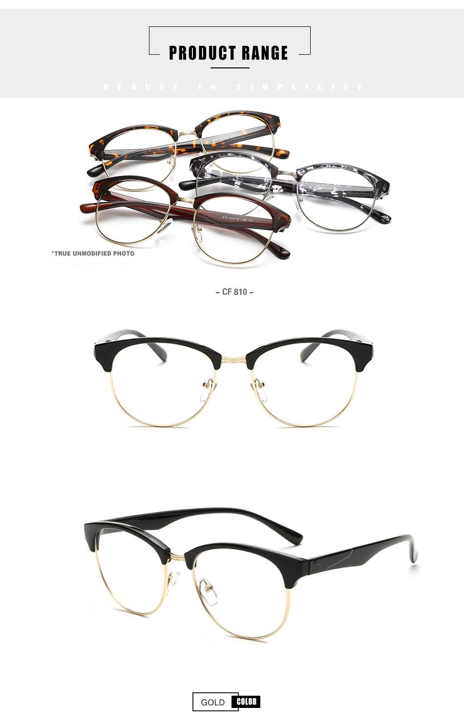 Zenni Optical Mens Rimless Glasses : Cf810 Fashion Round Semi-rimless Nice Zenni Optical ...