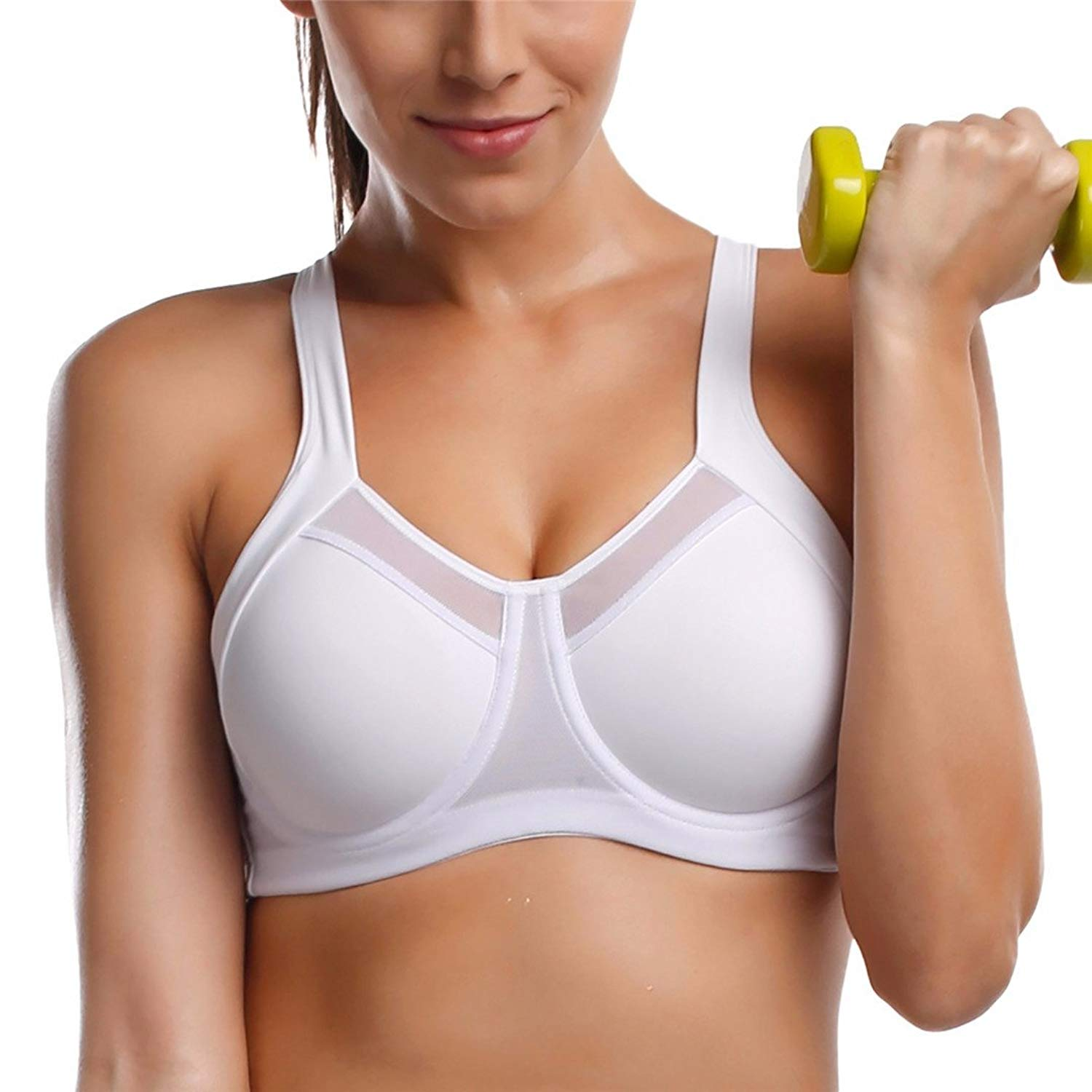 fec83b1b293e0 Get Quotations · Women s High Impact Underwire Non Padded Powerback Support  Sports Bra