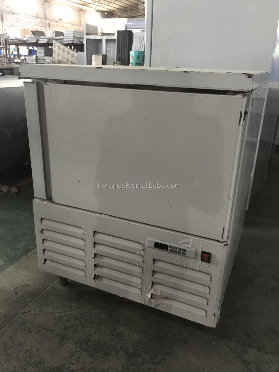 -35~3C Commercial Mobile Compressor Kitchen Chiller Shock Chicken Frozen Blast Freezer For Fish Meat