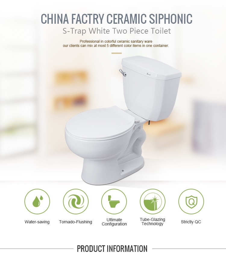 Wholesale Porcelain Siphonic Toilet Bowl Two Piece