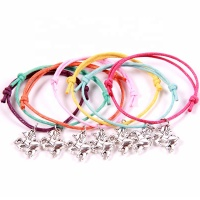 horse pendant cotton cord bracelet sets fashion jewelry for kids