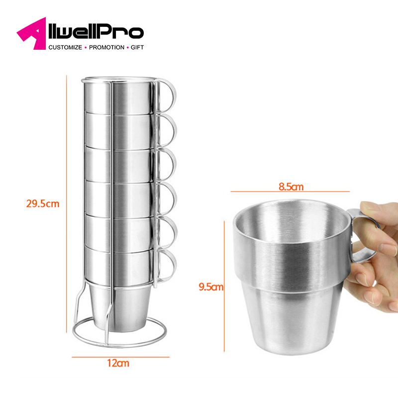 Wholesale Korea outdoor kids adult water tumbler 6-piece stainless steel double wall picnic insulation coffee beer mug mini