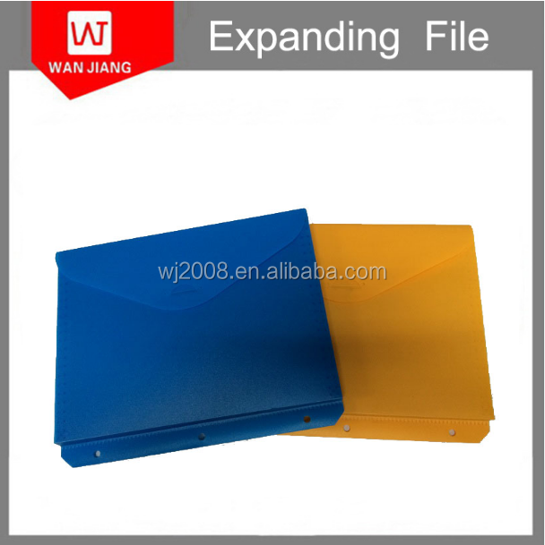 Newly design expanding pp file case /file folder hanging pp plastic Multifunctional package