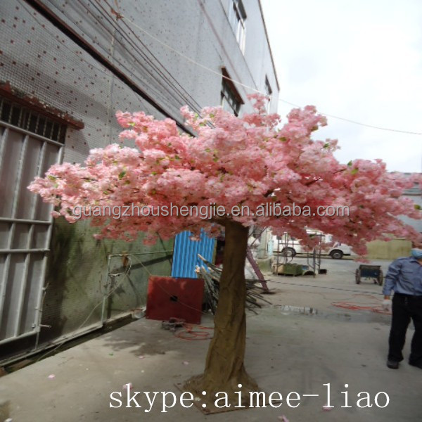 Q12801pink flower tree garden decoration 7ft artificial trees cherry blossoms