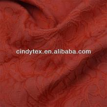 soft handfeel poly/cotton flower jacquard fabric