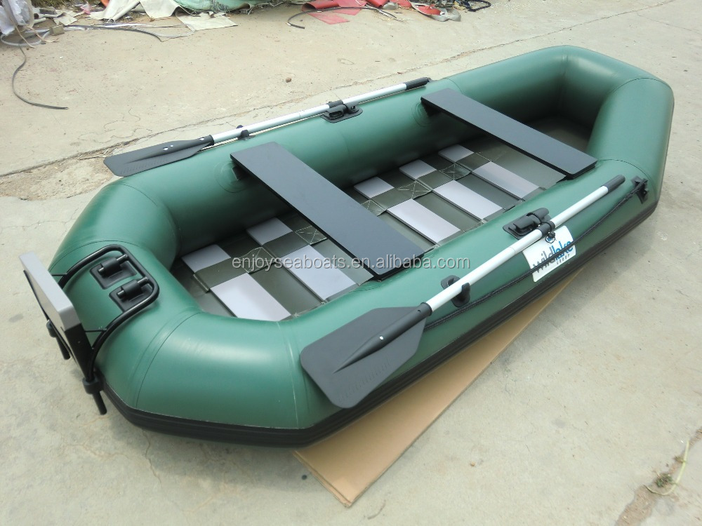 3 persons inflatable pontoon fishing boat fishing platform for Inflatable pontoon boat fishing