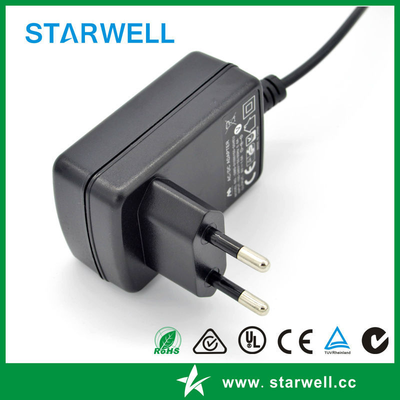 24V 0.5A power adapter with EU US AU UK wall plug interchangeable power adapter 15W 5V3A