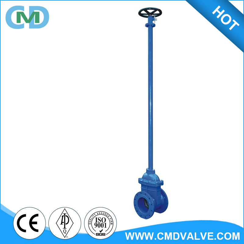 Direct Buried Underground DN80 DN100 Ductile Iron Extended Long Stem Water Gate Valve