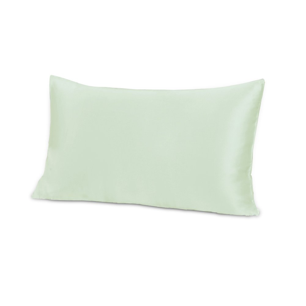 THXSILK 100% Mulberry Silk Pillowcase for Baby Boy Crib Nursery Toddler Bed 12x16, Green