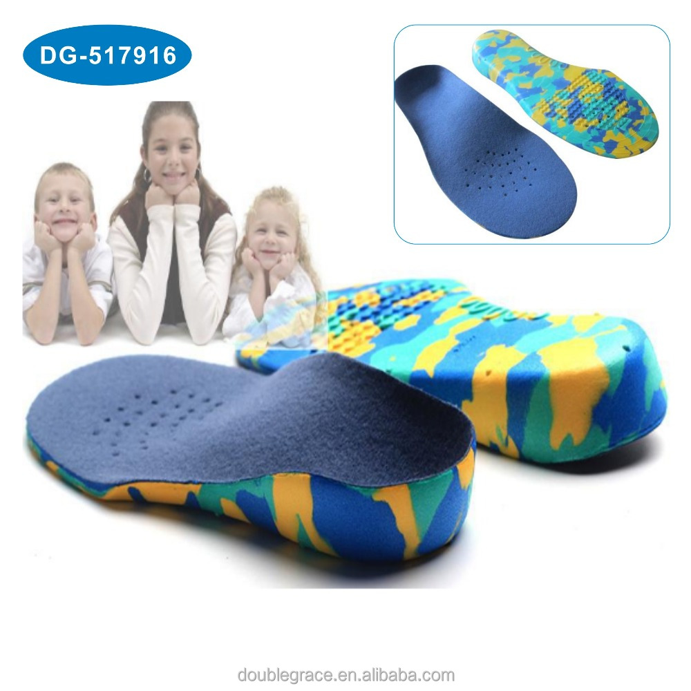 Children Kids Orthopedic Insoles Flat Foot Arch Support Orthotic Pad Health Care