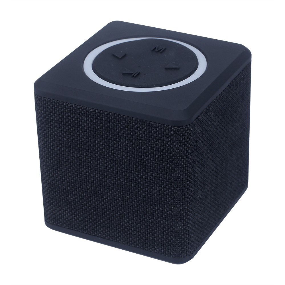 cheap promotion gift oem priviate label wirless mini fabric printed speaker