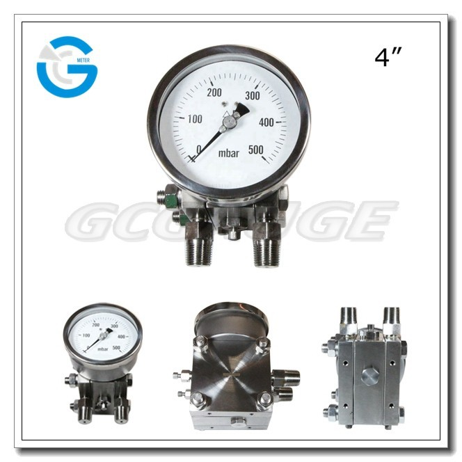 High quality all stainless steel differential pressure gauge
