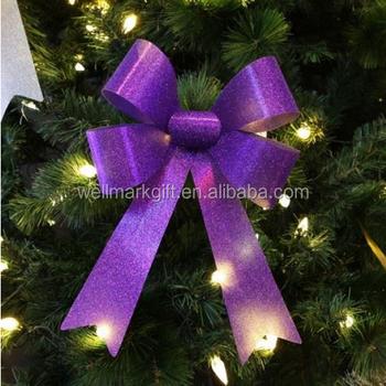 Christmas Tree Bow.Glitter Pvc Ribbon Bow Christmas Tree Decoration Item Buy Christmas Tree Decoration Item Christmas Tree Decoration Item Christmas Tree Decoration