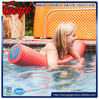 Unsinkable swimming noodles with Vinyl Coated Foam