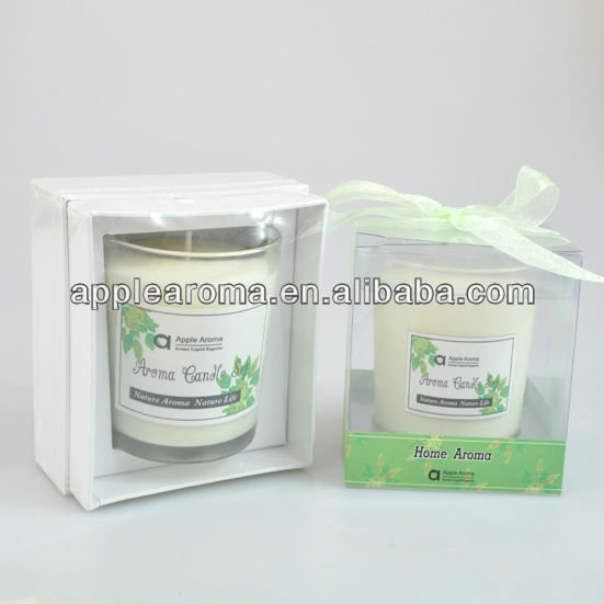 Home Decoration Scent Organic Soy Wax Candle Gift Set in Glass Jar