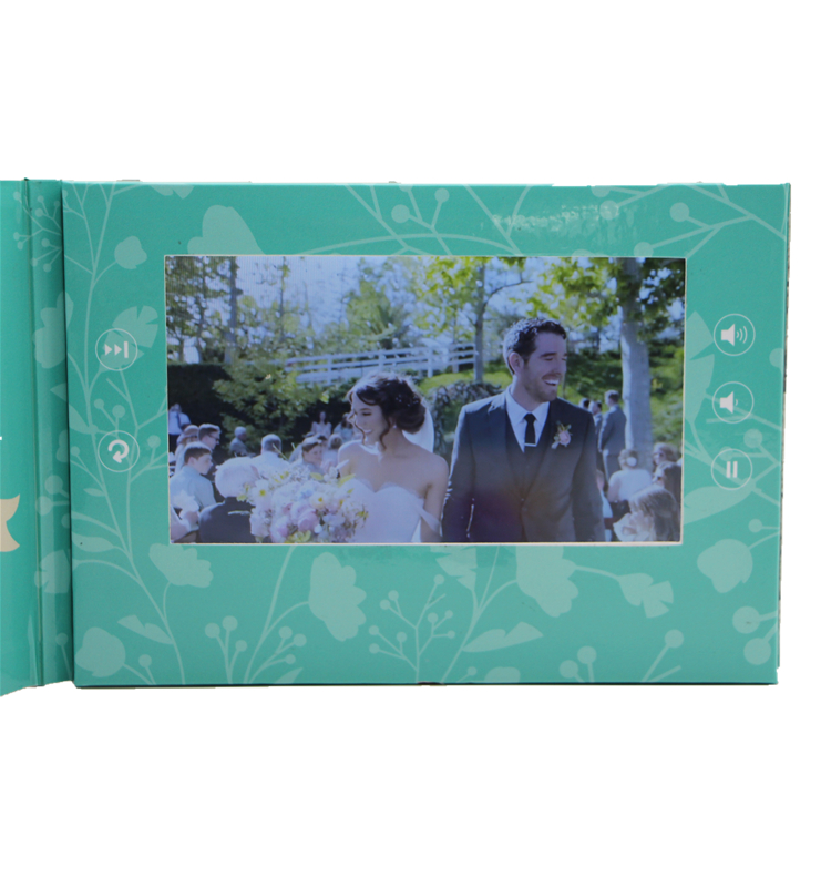 lovely video greeting card with LCD screen for valentines day gift