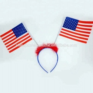 Plastic American national flag headband,2019 World Cup USA football fans headband flag