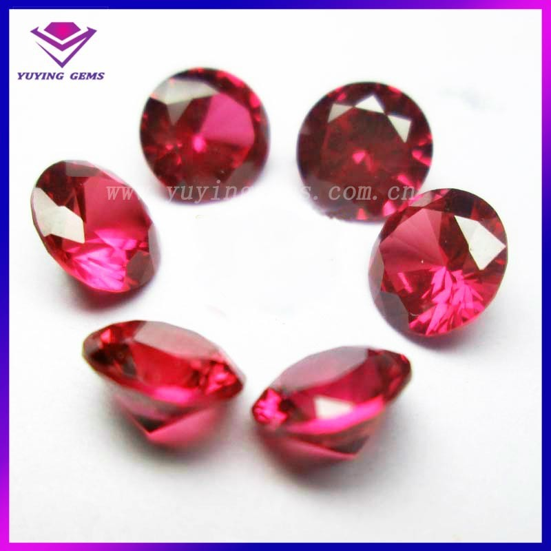 Ruby #5 Red Corundum Round 8mm Corundum Gemstone