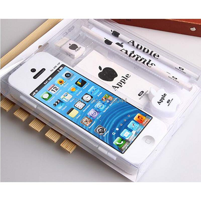 cheap for discount e1eeb 6d38e Wholesale-2015 new product Iphone plastic multifunction stationery,  stationery sets seven fast shipping And cute pencil box