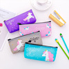 Cheap Wholesale girls kawaii kids plastic cute unicorn school pencil case
