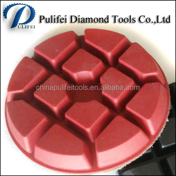 Stone Concrete Grinder Tool Polishing Pad and Polishing Diamond Pad made by Grinding Resin Material and Abrasive Diamond Powder