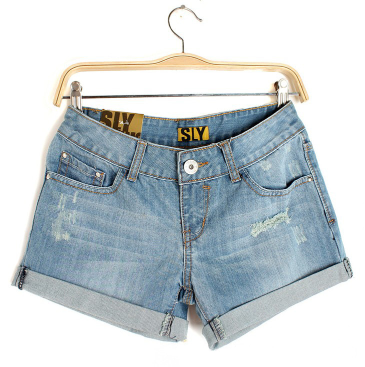 E.Li 2015 New Design Spring Summer Style Shorts Feminino Jeans Woman XL Plus Size Shorts Women With High Quality Free Shipping