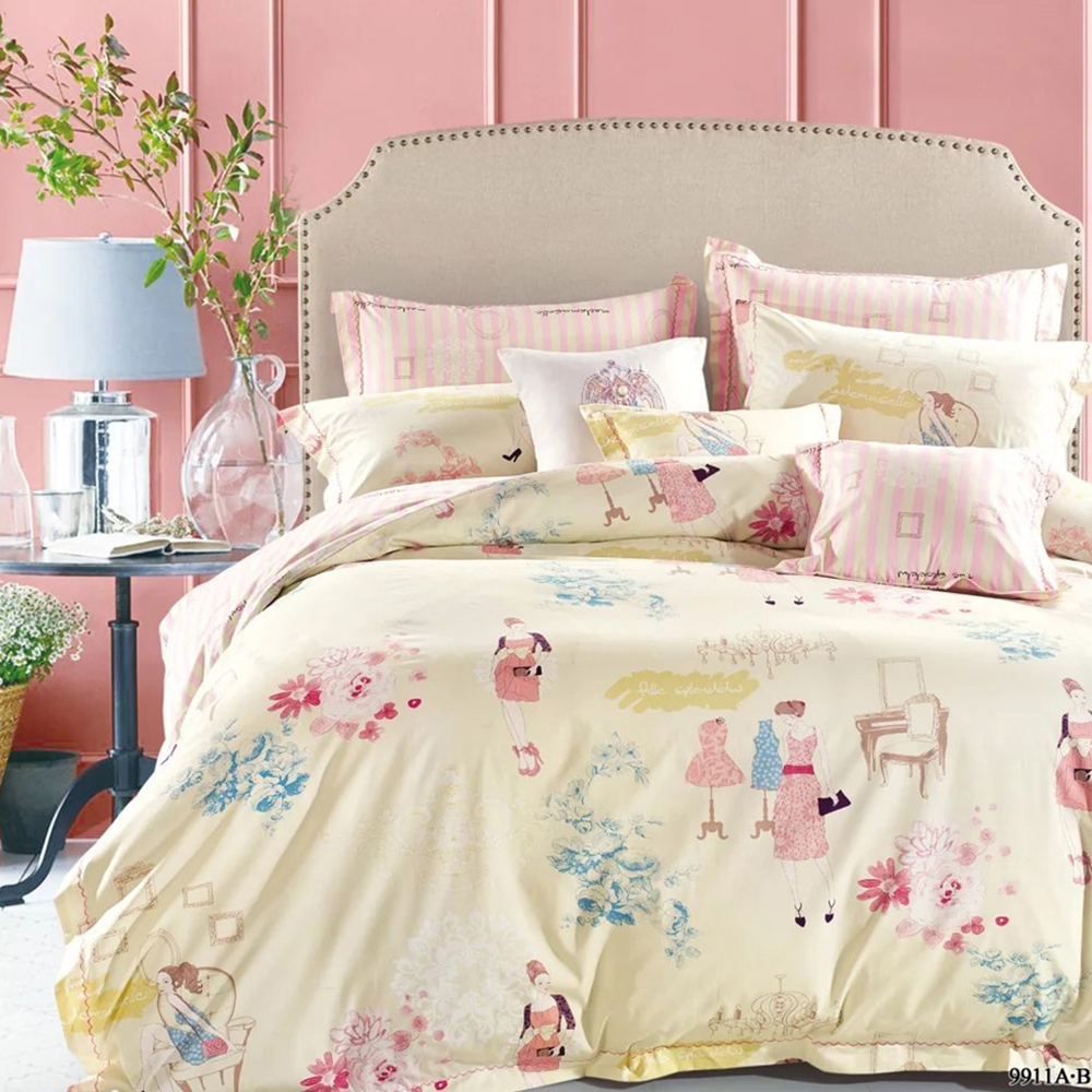 Twin Full Queen King size bedding bedsheets sets plain cotton bed sheet set