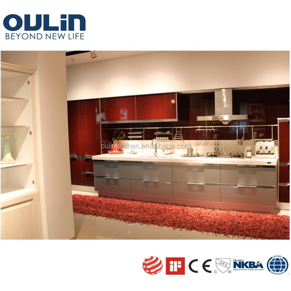 Red Gloss Kitchen Cabinets High Gloss Lacquer Kitchen Cabinet Doors High Gloss Lacquer