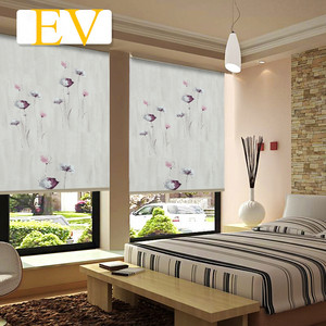 Factory Wholesale Motorized Blockout Roller Custom Printed Blinds