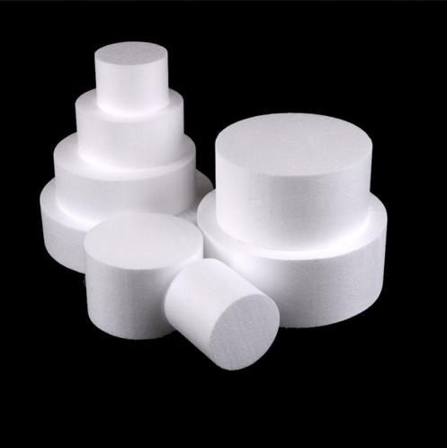 """ROUND FOAM 4/"""" x 2/"""" High Styrofoam Polystyrene Cake Dummy"""