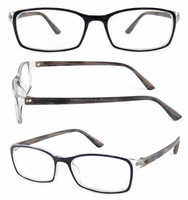 Retro round two tone demi Plastic eyeglasses frames latest frames glasses funny optical Reading Glasses