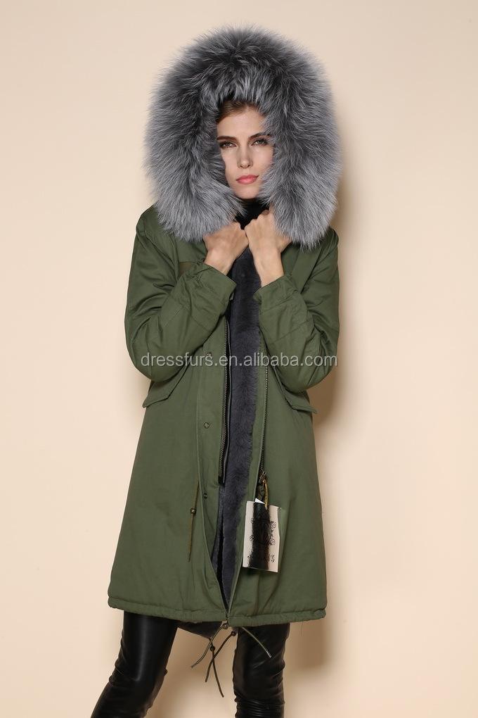 Femme Élégante Parka Manteaux De Fourrure Russes,Long Style