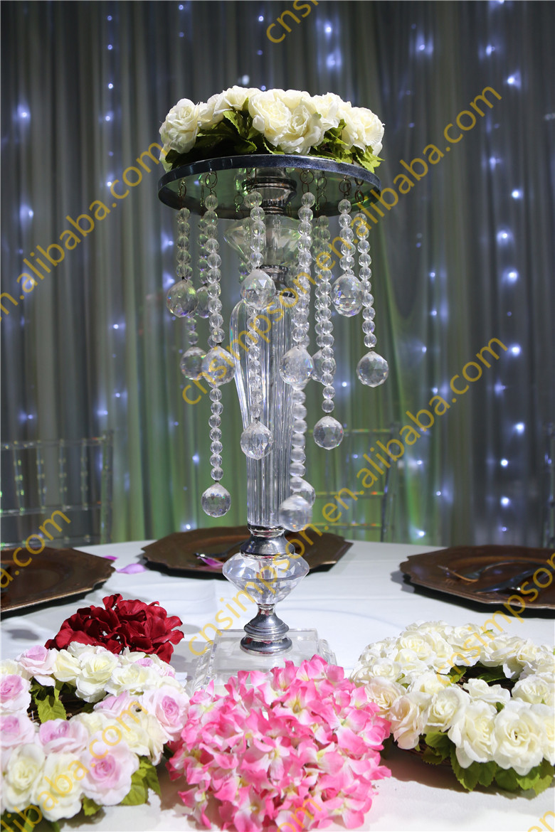 Chandelier party decoration light images light ideas acrylic beaded table top chandelier centerpieces flower holder acrylic beaded table top chandelier centerpieces flower holder aloadofball Images