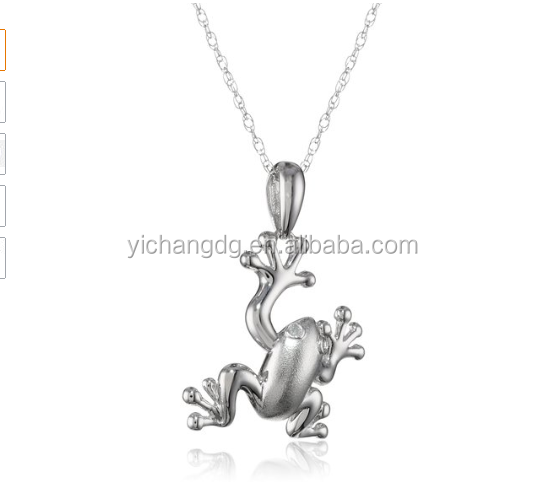 Fashion 10k Gold Diamond Matte Frog Pendant for Women in China