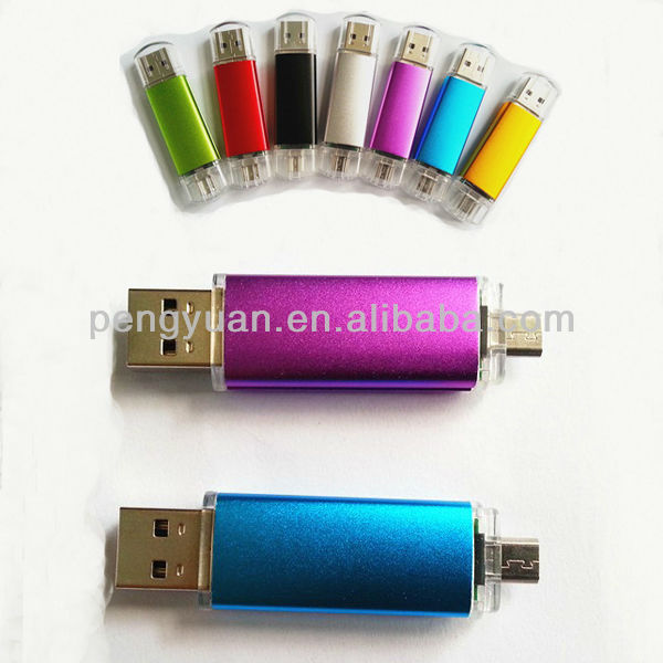 Hot sell mobile phone usb flash drive , mobile phone usb pen drive with double sockets