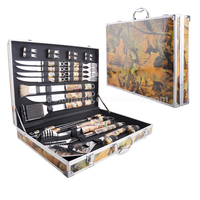 28Pcs Camo Stainless Steel BBQ Tools