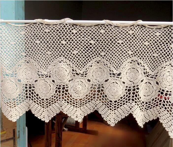 Popular Crochet Kitchen Curtains-Buy Cheap Crochet Kitchen