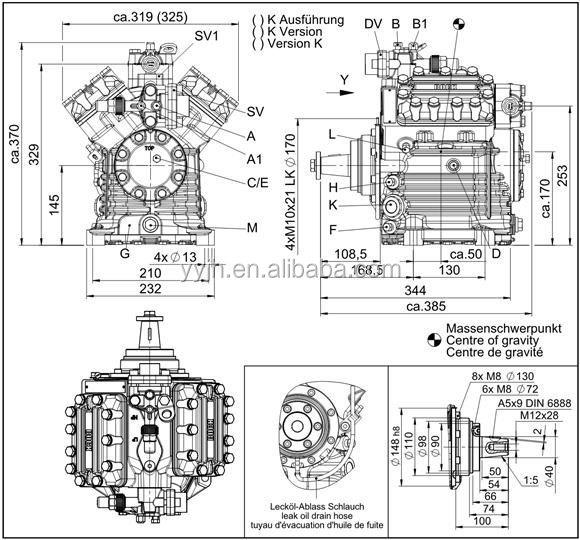 trustworthy china supplier bock compressor fk40 655k v type open compressors ac compressor price